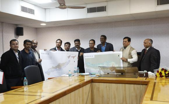 Hon'ble Chief Minister, Assam inaugurating River Atlas